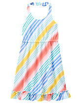 Rainbow Stripe Midi Dress