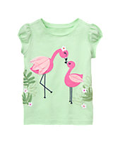 Flamingo Friends Top