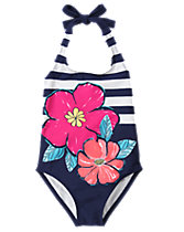 Tropical 1-Piece Swimsuit