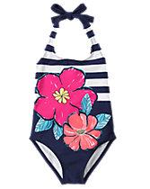 Tropical 1-Piece Swimsuit