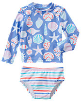 Seashell Rash Guard Set