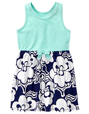 Girls Gym Navy Floral Floral Dress by Gymboree