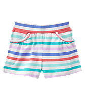 Shirred Pocket Shorts