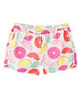 Citrus Print Shorts