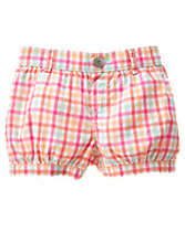 Plaid Bubble Shorts