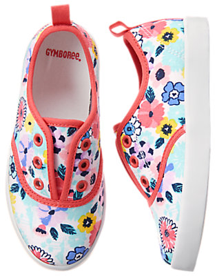 Gymboree Girls Floral Sneakers