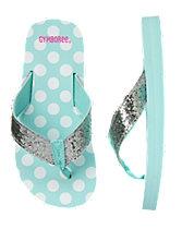 Glitter Dot Flip Flops