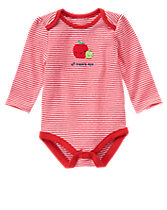 Striped Apple Bodysuit