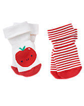 Apple Socks 2-Pack