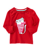 Kitty Long Sleeve Tee
