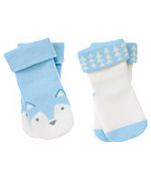 Wolf & Geo Socks