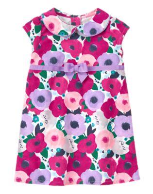 Corduroy Floral Dress