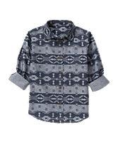 Geo Chambray Shirt