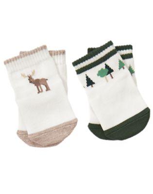 Moose & Tree Socks