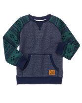 Geo Sleeve Pullover