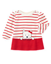 Westie Stripe Top