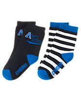 A & Stripe Socks