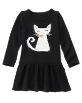 Cat Sweater Dress