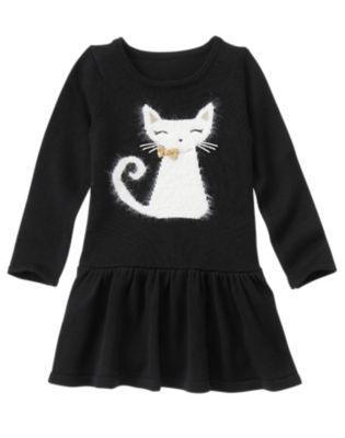 Cat Sweater Dress