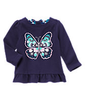 Butterfly Peplum Top