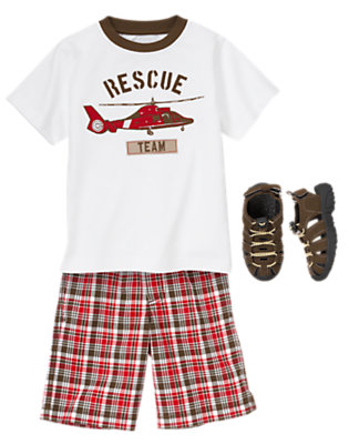 Plaid To The Rescue Outfit by Gymboree