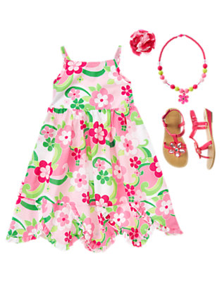 Girl's Floral Whimsy Outfit by Gymboree