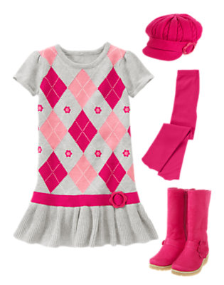 Stylish in Argyle Outfit by Gymboree