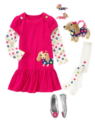 Pretty Puppy Outfit by Gymboree