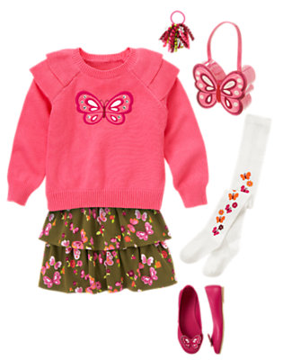 Ruffles and Butterflies Outfit by Gymboree