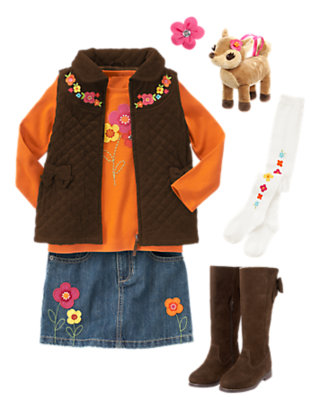 Girl's Forest Blossom Outfit by Gymboree