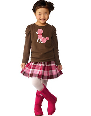 Poodles & Plaid Outfit by Gymboree