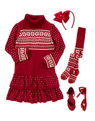 Girl's Fair Isle Flair Outfit by Gymboree