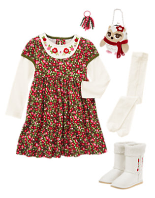 Girl's Woodland Flower Outfit by Gymboree