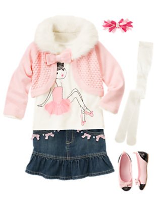 Girl's Glamour Ballerina Outfit by Gymboree