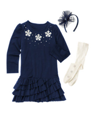 Girl's Snowflake Shimmer Outfit by Gymboree