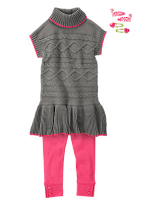Girl's Cable Knit Cutie Outfit by Gymboree
