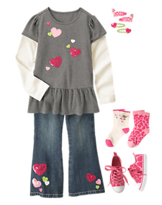 Girl's Full Of Heart Outfit by Gymboree