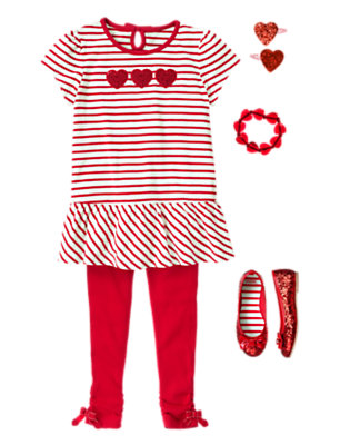 Shimmery Hearts Outfit by Gymboree