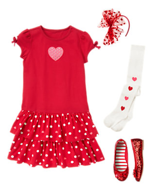 Twirly Valentine Outfit by Gymboree