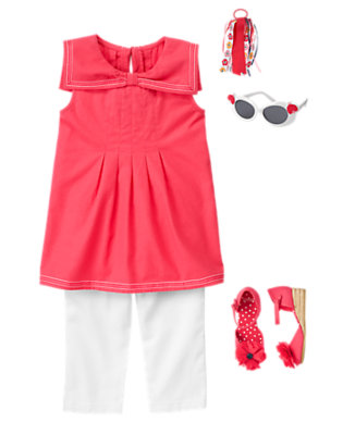 Girl's Sweet Nautical Outfit by Gymboree