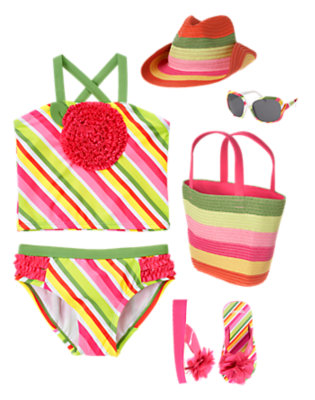 Girl's Splashy Flower Outfit by Gymboree