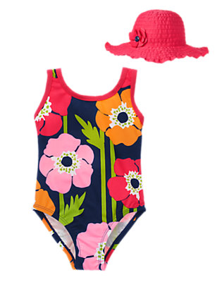 Girl's Poolside Poppy Outfit by Gymboree