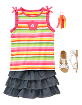 Girl's Ruffles & Stripes Outfit by Gymboree