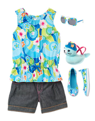 Girl's Flower Swirl Outfit by Gymboree