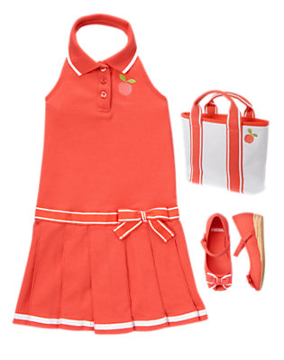 Girl's Preppy Peach Outfit by Gymboree