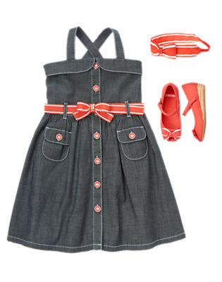 Chambray & Bows Outfit by Gymboree