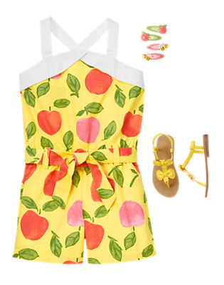 Girl's Summer Peach Outfit by Gymboree