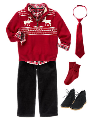 Boy's Festive Fair Isle Outfit by Gymboree