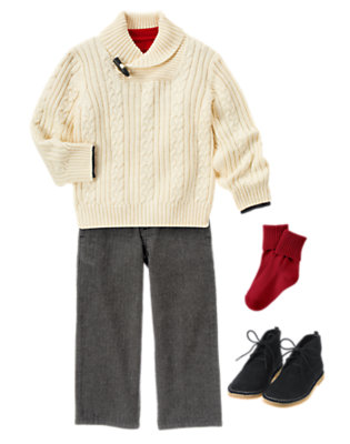 Boy's Cozy Classic Outfit by Gymboree