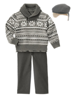 Fair Isle Guy Outfit by Gymboree